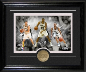 San Antonio Spurs Framed Photo and Coin (Desk Top Collection)