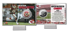 Dexter McCluster Silver coin card
