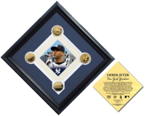 Derek Jeter Yankees Hit Record 24KT Gold Diamond Collection