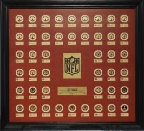 Super Bowl 24KT Gold 45 Flip Coin Set Framed