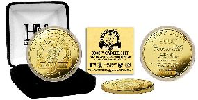 Derek Jeter 3000th Hit Commemorative  24KT Gold Plated Coin
