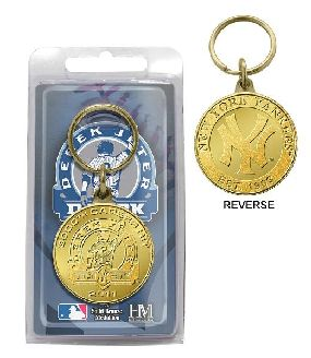 Derek Jeter 3000th Hit Bronze Key Chain
