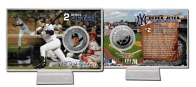 Derek Jeter Silver Plate Coin Card