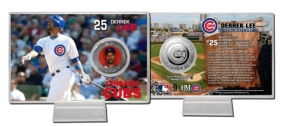 Derrek Lee Silver Plate  Coin Card