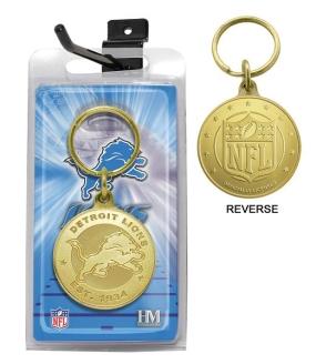 Detroit Lions Bronze Bullion Keychain