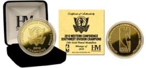 Dallas Mavericks 2010 Division Champs 24KT Gold Coin