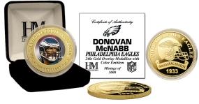 Donovan McNabb 24KT Gold Commemorative Coin