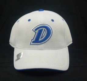 Drake Bulldogs White Elite One Fit Hat