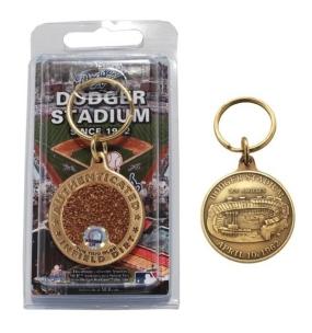 Dodger Stadium Bronze Infield Dirt Keychain