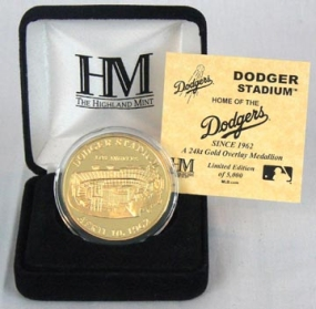 Dodger Stadium 24KT Gold Commemorative Coin