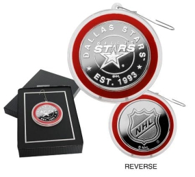 Dallas Stars Silver Coin Ornament
