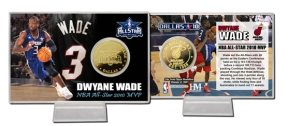 Dwayne Wade NBA All Star Game MVP 24KT Gold Coin Card