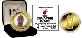 Dwayne Wade 24KT Gold and Color Coin