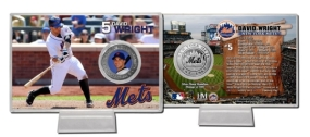 David Wright Silver Plate Coin Card