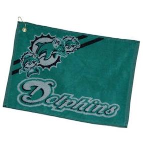 Miami Dolphins Jacquard Golf Towel
