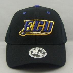 East Carolina Pirates Black One Fit Hat