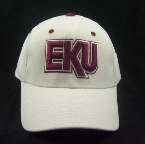 Eastern Kentucky Colonels White One Fit Hat