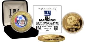 Eli Manning 24KT Commemorative Coin