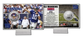 Eli Manning Silver Coin Card