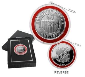 Edmonton Oilers Silver Coin Ornament