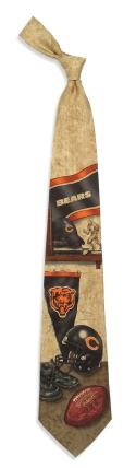 Chicago Bears Nostalgia Tie