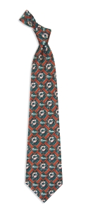 Miami Dolphins Pattern Tie
