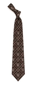 Oakland Raiders Woven Polyester Tie
