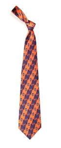Detroit Tigers Pattern Tie