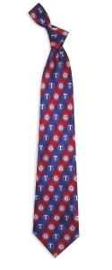 Texas Rangers Pattern Tie