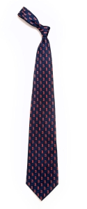 Boston Red Sox Pattern Polyester Tie