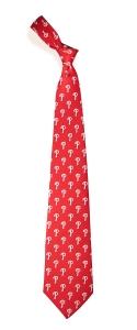 Philadelphia Phillies Pattern Polyester Tie