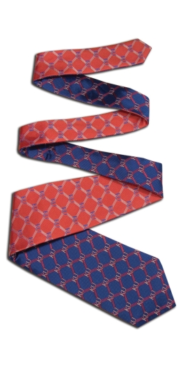 Kansas Jayhawks Home and Away Reversible Tie