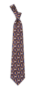 Illinois Fighting Illini Pattern Tie