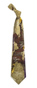 LSU Tigers Vintage Brick Tie