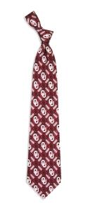 Oklahoma Sooners Pattern Tie