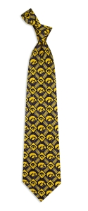Iowa Hawkeyes Pattern Tie