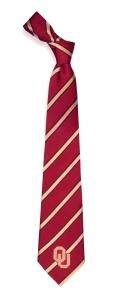 Oklahoma Sooners Woven Polyester Tie