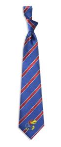 Kansas Jayhawks Woven Polyester Tie