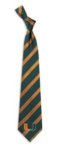 Miami Hurricanes Woven Polyester Tie