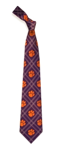 Clemson Tigers Woven Polyester Tie