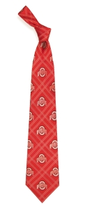 Ohio State Buckeyes Woven Polyester Tie
