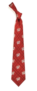 Wisconsin Badgers Woven Polyester Tie