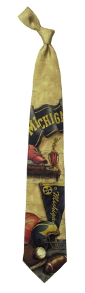 Michigan Wolverines Nostalgia Tie