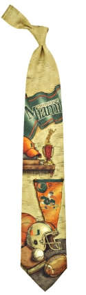 Miami Hurricanes Nostalgia Tie