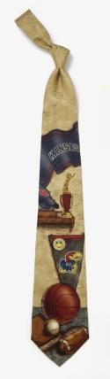 Kansas Jayhawks Nostalgia Tie