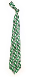 Michigan Wolverines State Spartans Pattern Tie