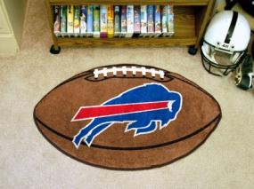 Buffalo Bills Football Shaped Rug