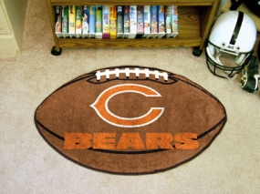 Chicago Bears Football Shaped Rug