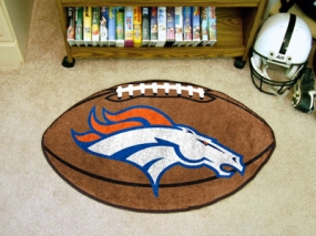Denver Broncos Football Shaped Rug