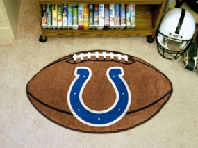 Indianapolis Colts Football Shaped Rug